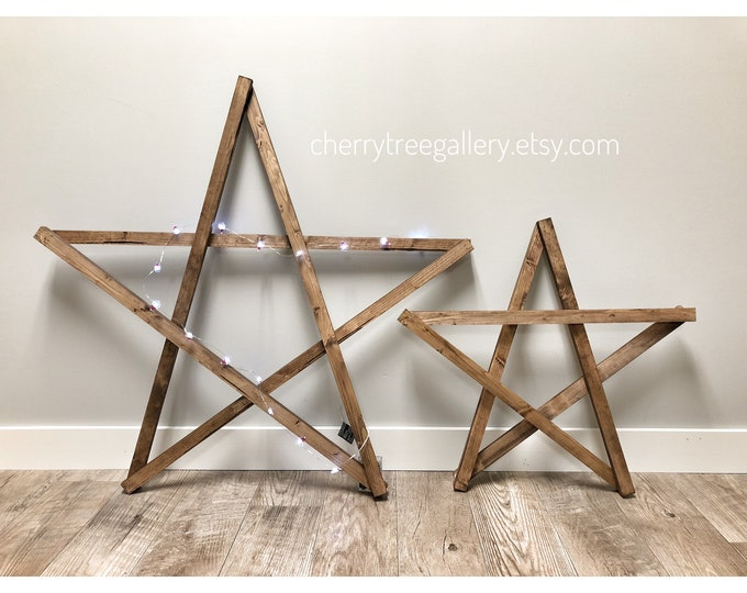 Jumbo Christmas Star, Huge Wooden Star, Christmas Decoration, Set of Wood Christmas Stars, Boho Cozy Mantle Fireplace Ideas, Farmhouse Xmas