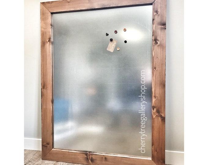 Wood MAGNETIC BULLETIN Board, Industrial Memo Board, Bulletin Board, Kitchen Memo Note Board, Stainless Steel Memo Wall Board, Office Memo