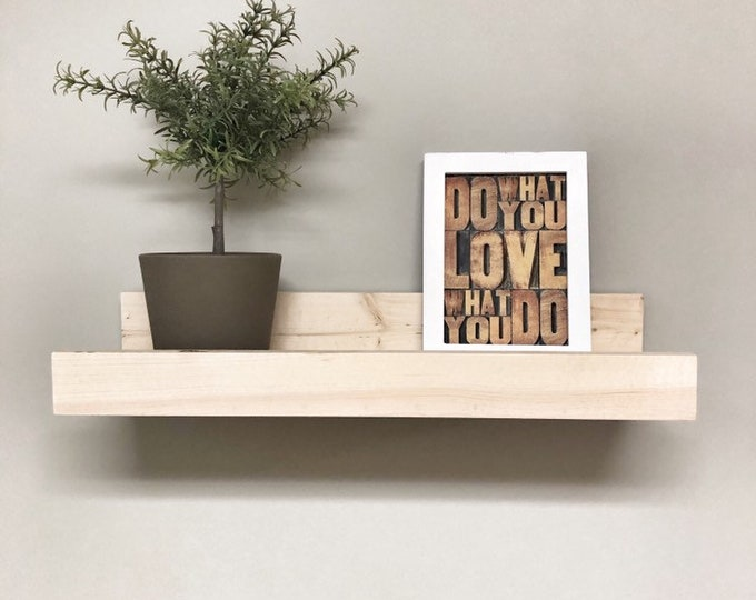 Wooden Picture Ledge Shelf, Gallery Wall Shelf, Floating Shelf, Wooden Shelf, Rustic Home Decor, Gallery Wall Decor, Bathroom Storage Shelf