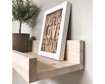 Wooden Picture Ledge Shelf, Gallery Wall Shelf, Floating Shelf, Wooden Shelf, Rustic Home Decor, Gallery Wall Decor, Bathroom Storage Shelf