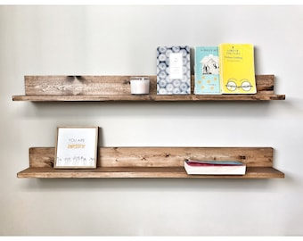 Wooden Picture Ledge Shelf, Gallery Wall Shelf, Open Shelving, Floating Wall Shelf, Home Wall Storage, Gallery Wall Decor, Organization