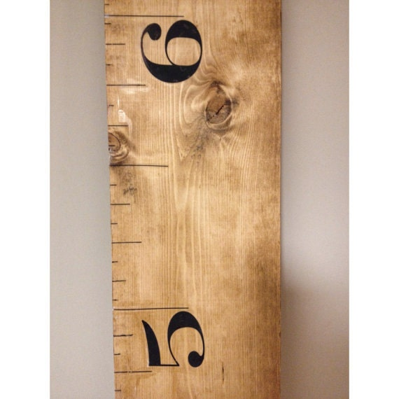 Giant Wood Growth Chart Ruler Measuring Chart Measuring Etsy