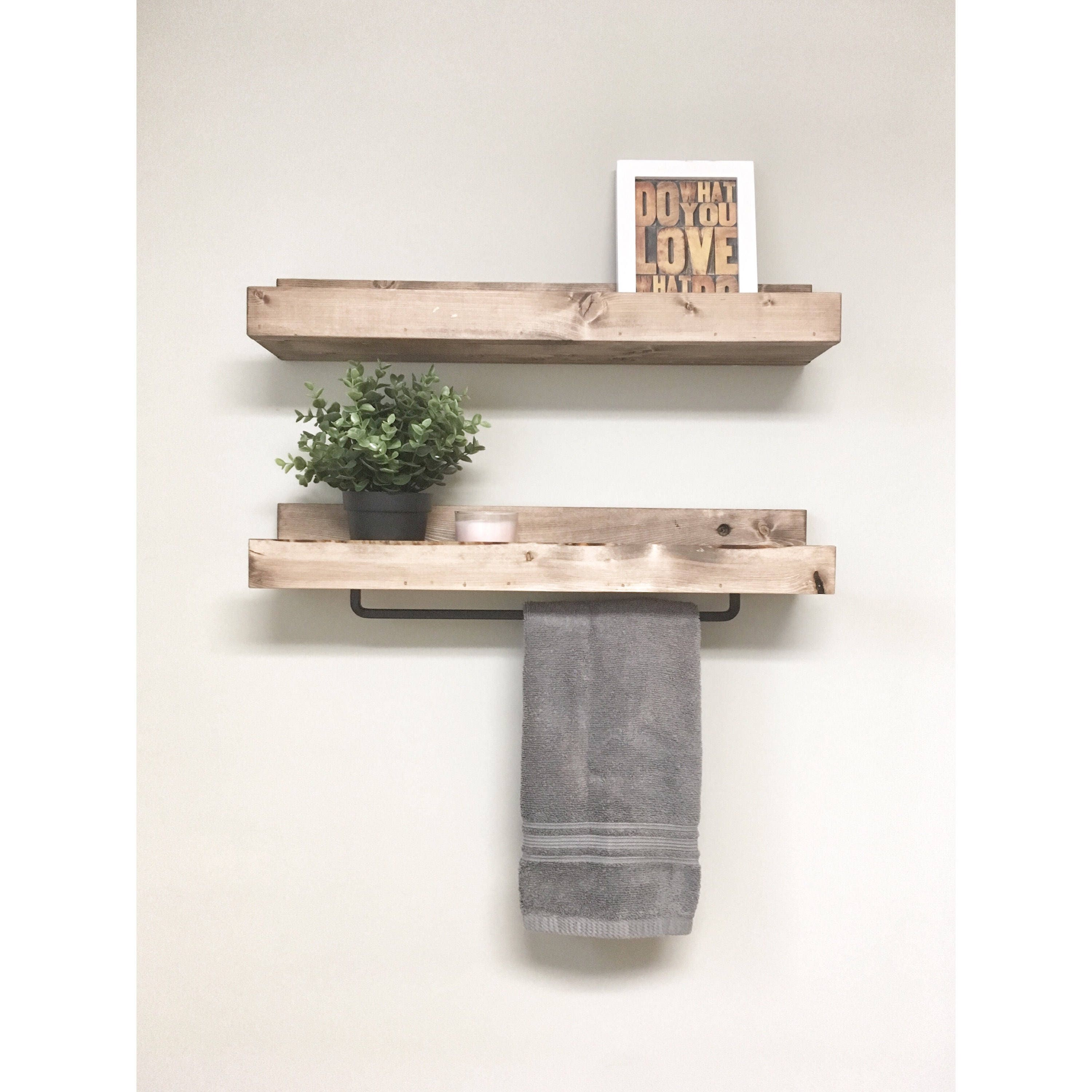 Rustic Wooden Rack Ledge Shelves, Ledge Shelves, Wooden Rack, Rustic ...