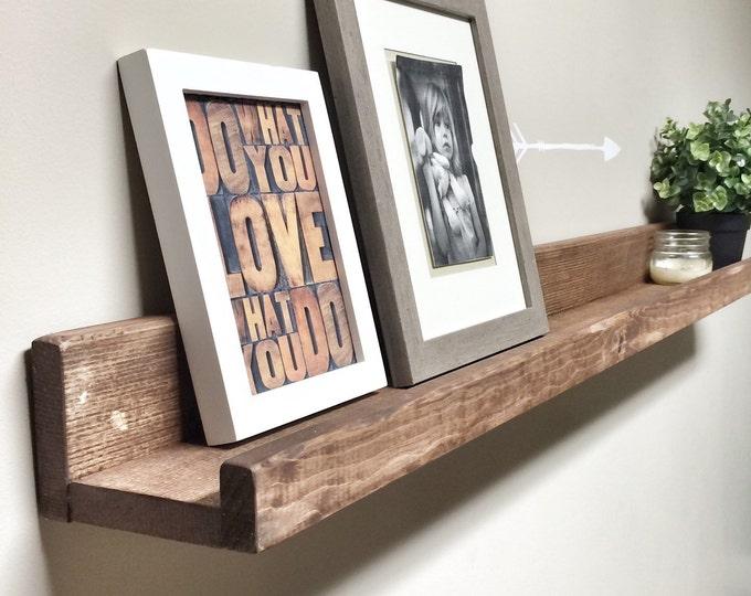 Picture Ledge Wall Shelf, Ledge Shelf, Nursery Shelf, Picture Shelf, Wooden Shelves, Rustic Shelves, Bookshelves, Floating Shelves Display