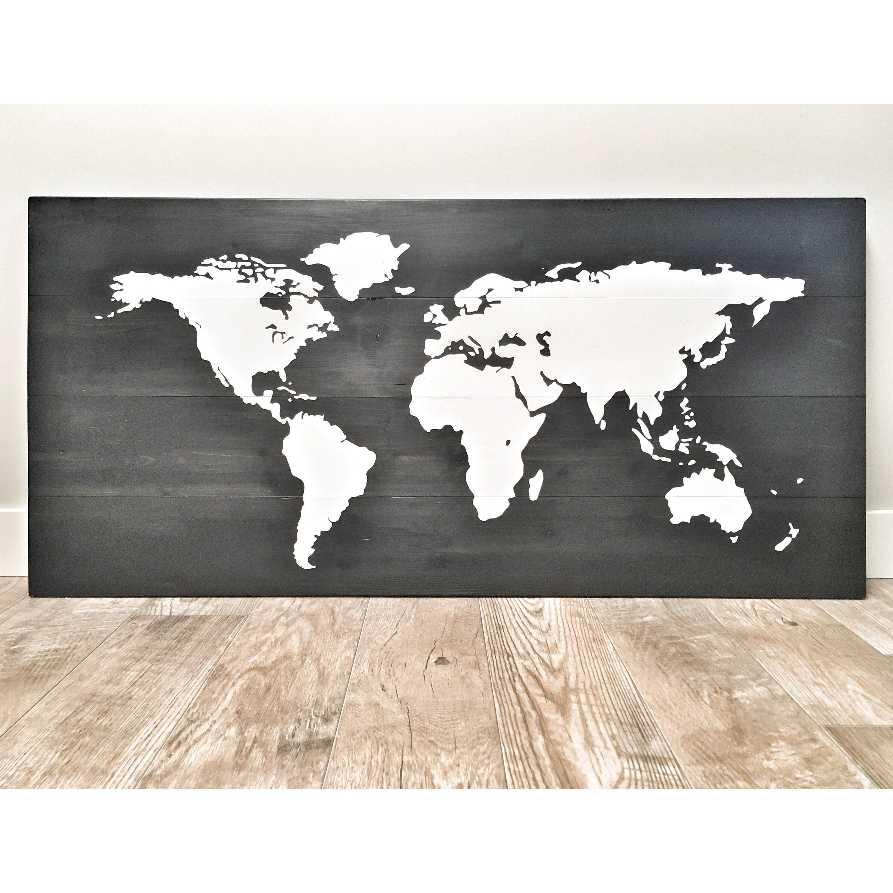Huge large rustic wood world map rustic decor farmhouse decor huge large rustic wood world map rustic decor farmhouse decor rustic nursery decor wall decor wooden white world map 46 x 22 gumiabroncs Choice Image