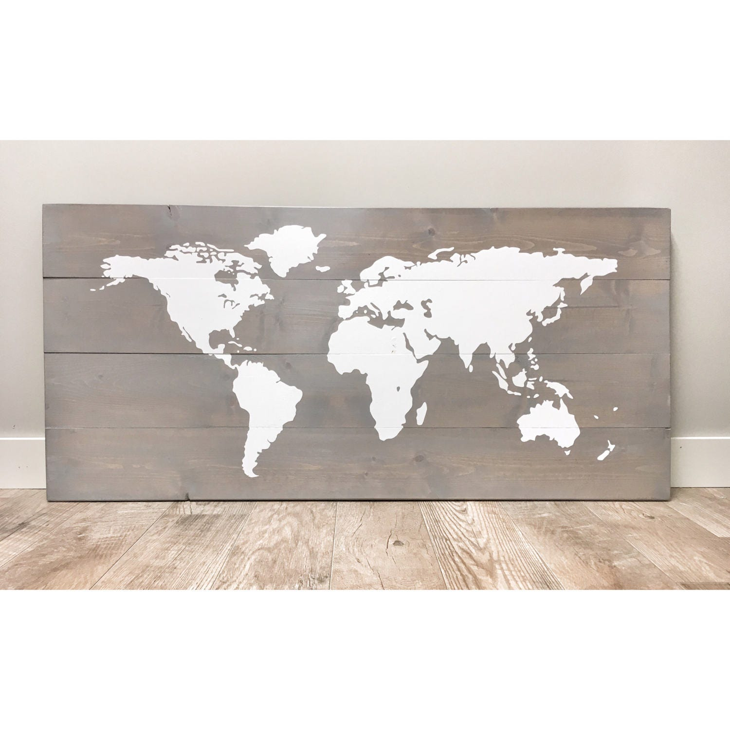 Rustic wood world map rustic decor farmhouse decor rustic nursery rustic wood world map rustic decor farmhouse decor rustic nursery decor wall decor wooden white world map rustic wedding 46 x 22 gumiabroncs Image collections