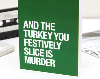 The Smiths | Morrissey themed – 'Meat Is Murder' Christmas / Thanksgiving card