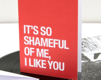 Morrissey themed – 'I Like You' Valentines Day / Anniversary card