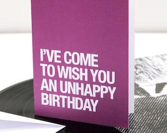The Smiths | Morrissey themed – 'Unhappy Birthday' birthday card