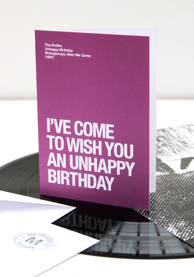 The Smiths  Morrissey themed  'Unhappy Birthday' image 0