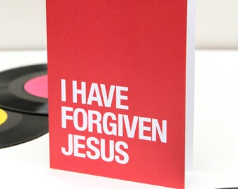 Morrissey themed – 'I Have Forgiven Jesus' Christmas card