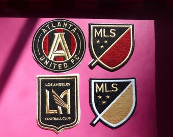 8c008e801 Embroidered Iron-On MLS Soccer Patches -Atlanta United and LAFC Los Angeles  Football Club Badges Patches