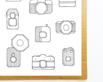 Poster photography, Vintage camera, Retro wall art, Vintage prints, Retro camera, Bedroom wall decor, Illustration print, Photography prints