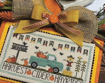 FLOSS PACK for Pumpkin Patch -  PAPER Pattern included - by Katie Rogers of Primrose Cottage Stitches
