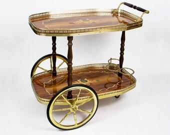 Vintage Bar Cart >> Antique Bar Cart Etsy