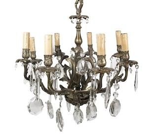 Large Bling chandelier   Candelabro de bronce, Lámpara de