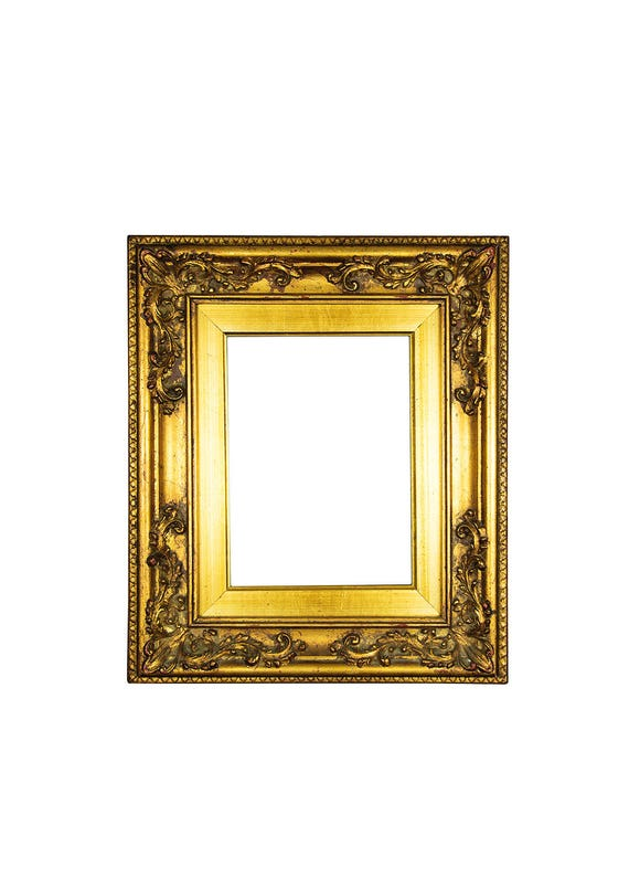 Antique Wood Frame Ornate Gold Frame Vintage Wood Frame Gold | Etsy