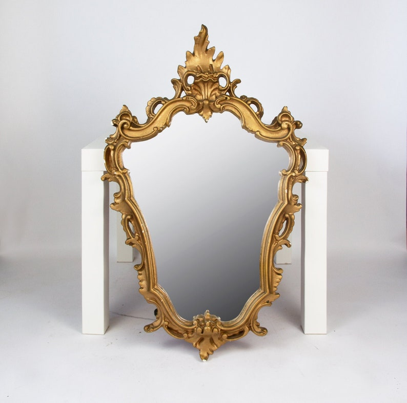 Antique French Wall Mirror Gold Ornate Mirror Large Etsy