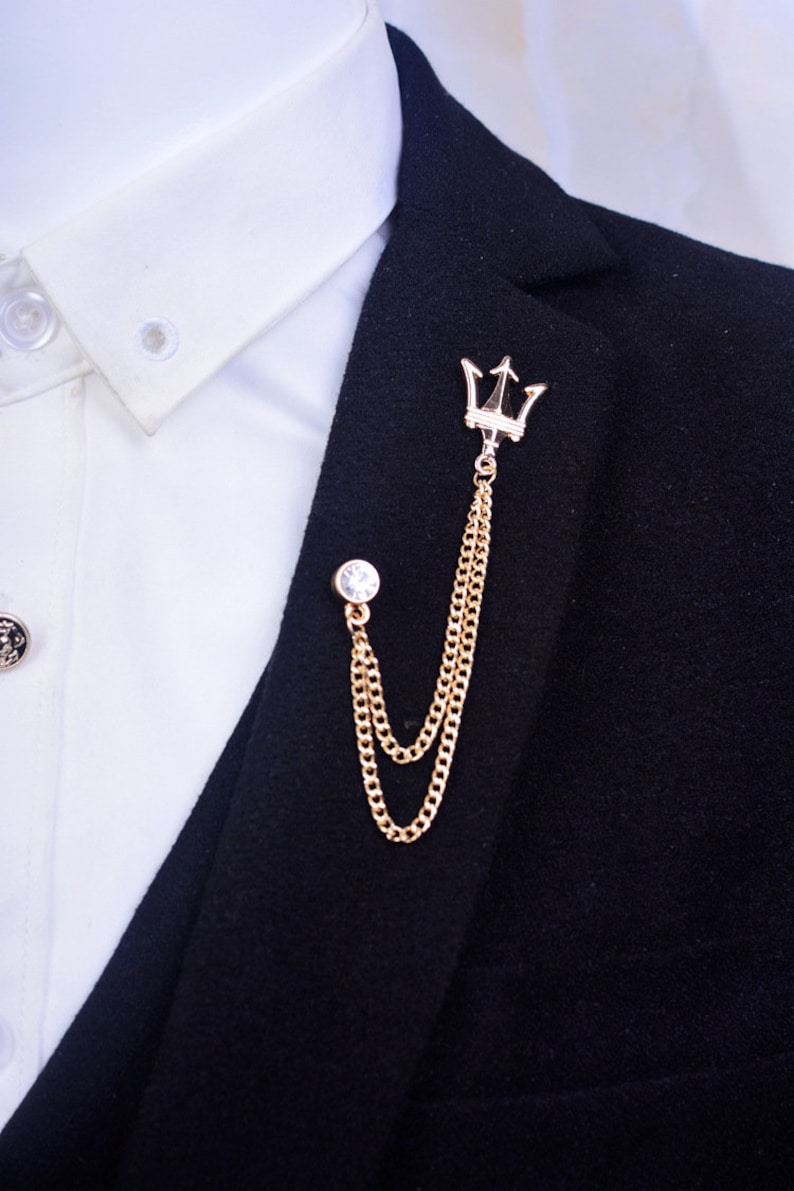 Gentleman Lady Shirt Harpoon Tasseled Collar Pins,Suit Collar Badge  Brooches,Party Gift Ideas