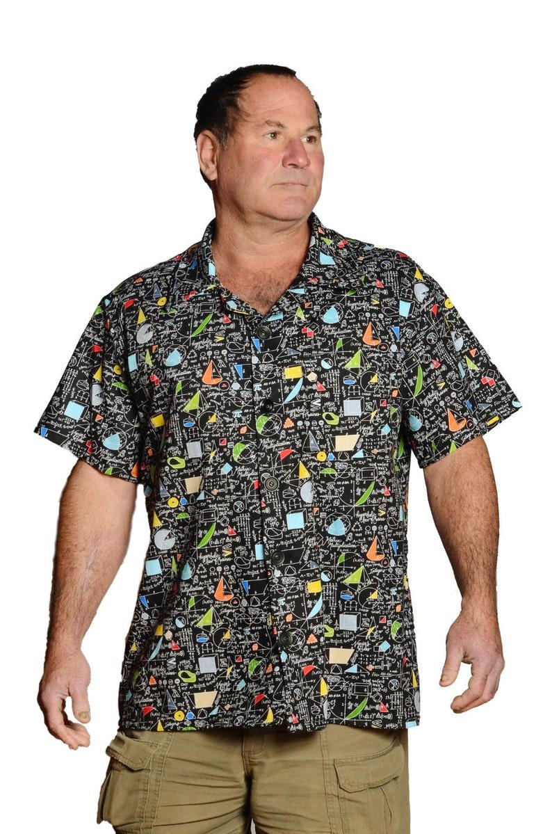a64ed07c Feak Shirt for Men Math Mind Print Hawaiian Shirt Hawaiian | Etsy