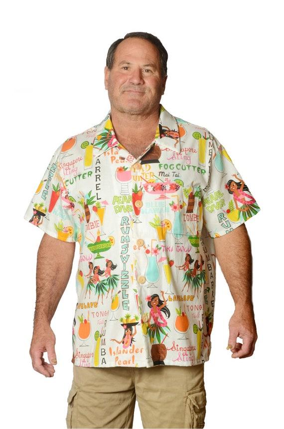 792779ee872e3d Feak Shirt for Men Rum Sizzler Print Hawaiian Shirt Tropical | Etsy