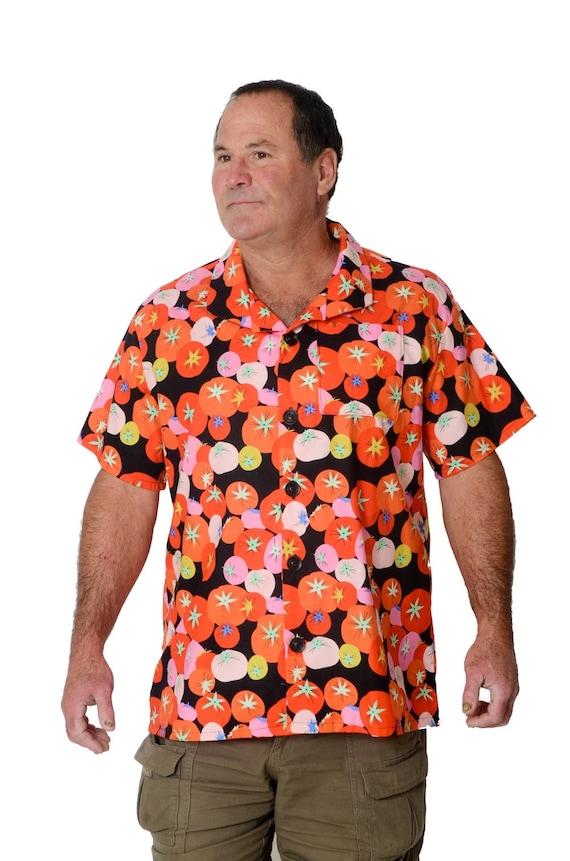 Vintage T-Shirt,Exotic Palm Leaves Aloha Fashion Personality Customization