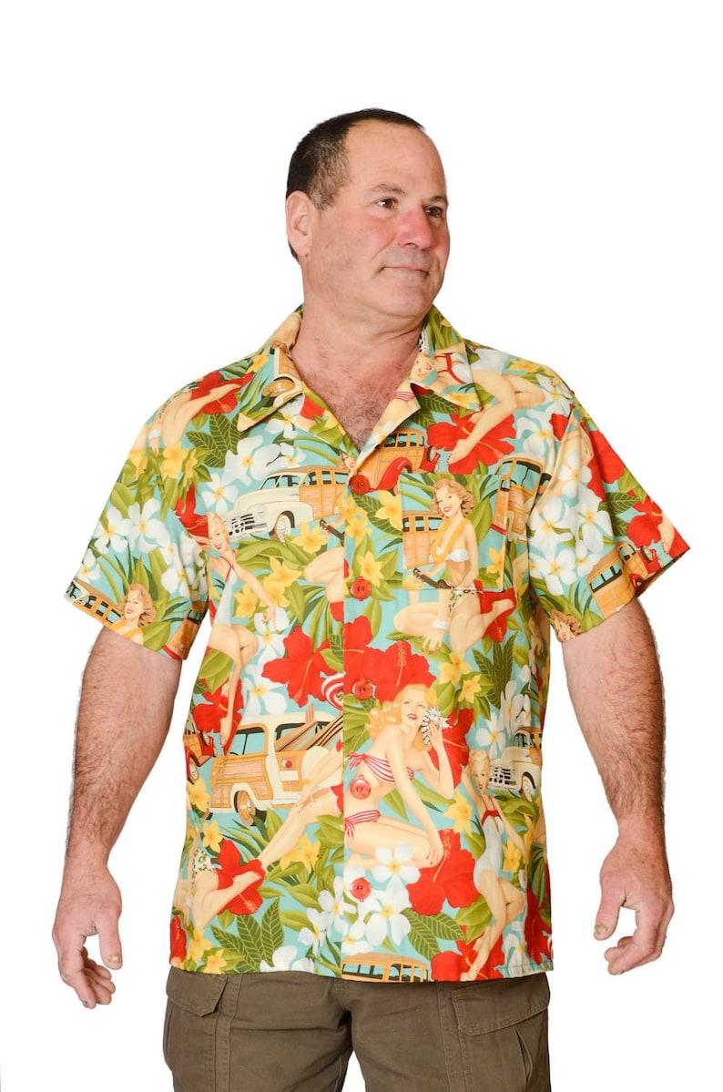03c30aaca01876 Feak Shirt for Men 60s Island Summer Print Hawaiian Shirt | Etsy