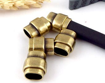 bronze zamak magnetic clasp for regaliz leather