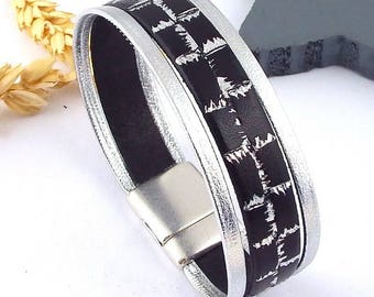 Kit tutorial bracelet silver and black electro silver plated