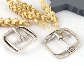 5 beautiful belt buckles for leather 20mm silver plated zamak