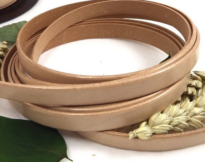 Natural flat leather, 10 mm * 1 meter