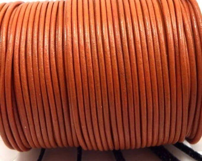 Leather cord round pumpkin 1.5 mm 0.5 m