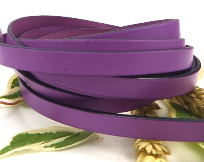 High quality purple flat leather 10mm per 1 metre