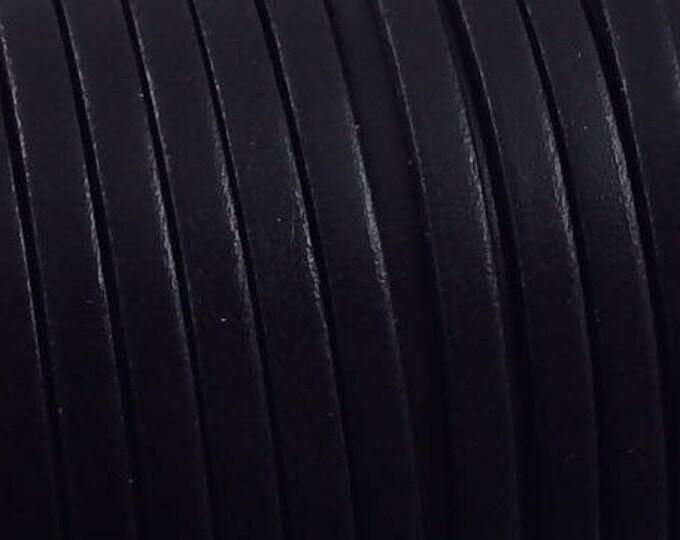 1 meter black cpu5no 5mm flat leather strap