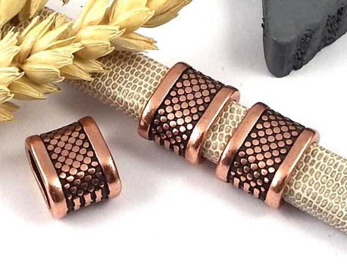 3 sliding pearl design copper for reglisse leather high quality