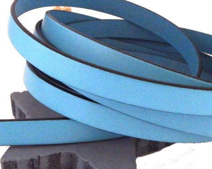1 metre flat leather 10mm sky blue high quality cpu10bc