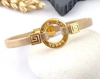 Kit tutorial bracelet blade greeting nude gold beads and zamak flashed clasp gold