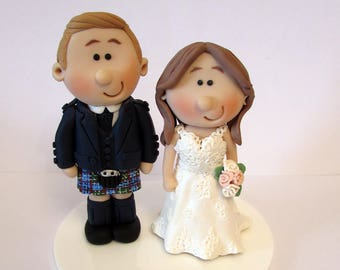 Wedding cake topper, Personalised bride and groom Cake topper, custom wedding, novelty bride and groom, wedding cake figurines