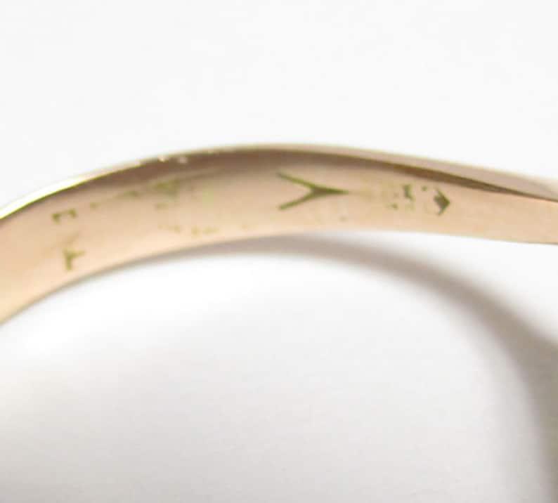 Gr 80 Edwardian14K Rose Gold and Amethyst Ring Floral Setting Size 7 14