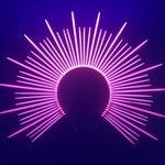 Mary Halo Crown - Neon UV Pink - Spiked sunburst headband - Zip Ties - Iconography - Blacklight Glow - Headpiece - Headdress - Festival Rave