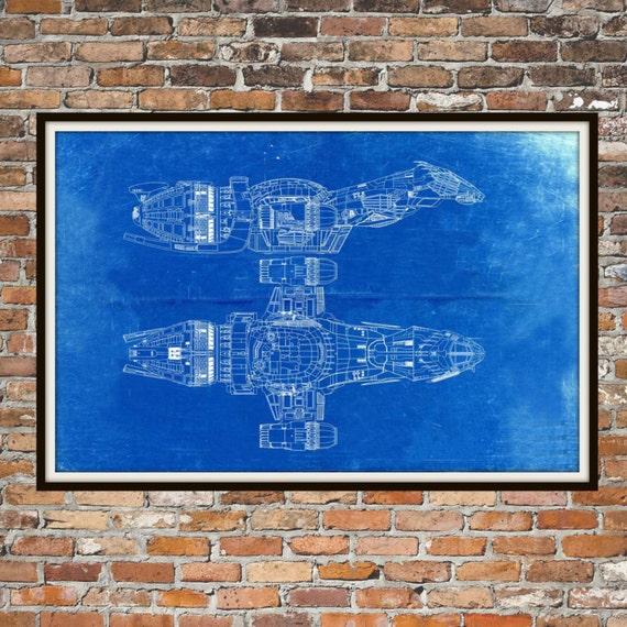 Firefly serenity blueprint art of firefly class technical etsy image 0 malvernweather Gallery
