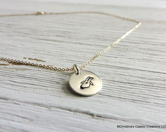 Hand Stamped Capricorn Zodiac symbol  charm or build your own Necklace (#1249)