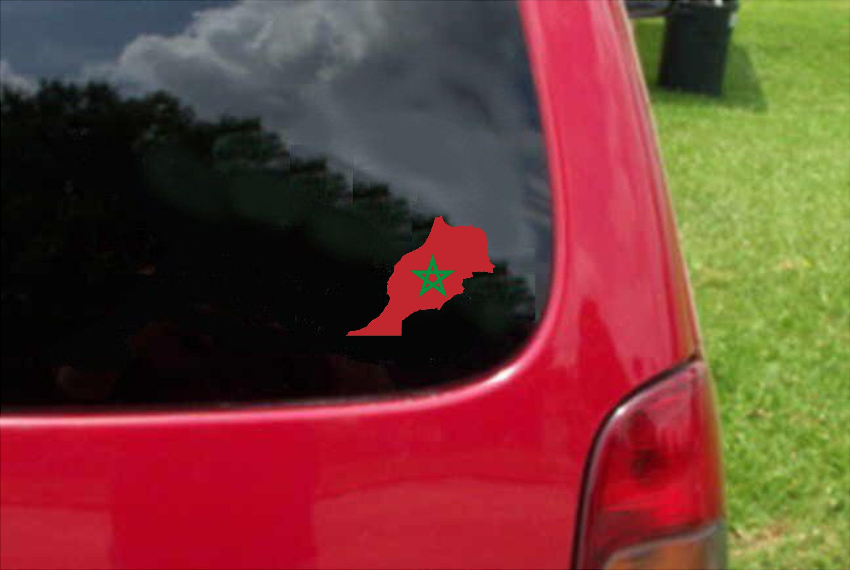 "Oval car window bumper sticker decal 5/"" x 3/"""