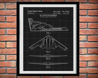 1991 B-2 Stealth Bomber Northrop Grumman Patent Print - B2 Stealth Bomber Poster - Aviation Decor - Military Fighter Plane - B2 Spirit Print