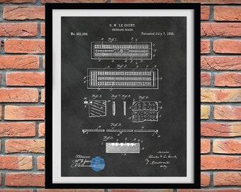 1885 Cribbage Game Patent Print, Cribbage Board Game, Cribbage Game Blueprint, Cribbage Game Poster, Game Room Decor, Game Night Wall Art