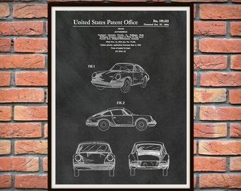 Patent 1964 Porsche 911 - Carrera Sports Car - Porsche Poster - German Automobile Patent - German Sports Car Art