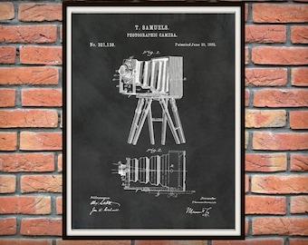 Patent 1885 Camera Designed by Thomas Samuel - Art Print - Poster Print - Wall Art - Photography - Photographic Equipment - Antique Camera