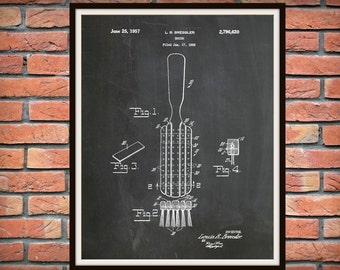 1957 Hair Brush Patent Print - Poster - Barber Shop Decor - Hair Salon Decor - Hairdresser Gift - Bathroom Decor - Beauty Parlor Decor