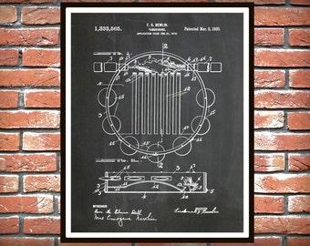 1920 Tambourine Patent Print - Poster - Musical Instrument - School Music Room Decor - Rock Band Art - Jazz Band Decor