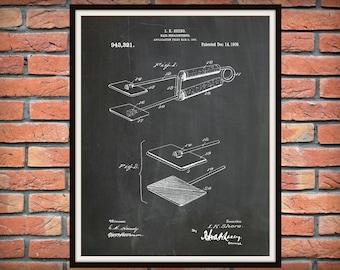 1909 Hair Straightener Patent Print - Flat Iron Poster - Barber Shop Decor - Hair Salon Decor - Hairdresser Gift Idea - Beauty Shop Decor